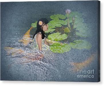 Dreams Of Golden Scales Canvas Print by Audra D Lemke