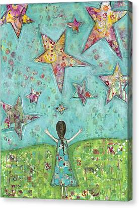 Dreams On Stars Canvas Print by Kirsten Reed