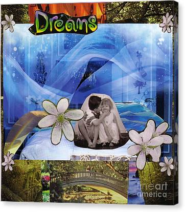 Dreams Version 1 Canvas Print by Leslie Jennings