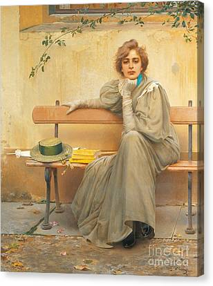 Contemplation Canvas Print - Dreams  by Vittorio Matteo Corcos