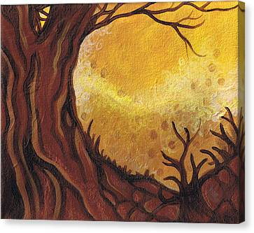 Dreamscape In Fall Tones #1 Of 4 Canvas Print by Laura Noel