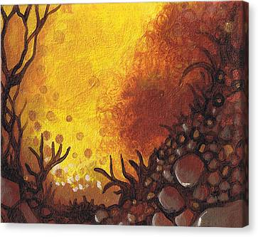 Dreamscape In Fall Tones #3 Of 4 Canvas Print by Laura Noel