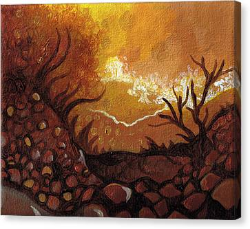 Dreamscape In Fall Tones #4 Of 4 Canvas Print by Laura Noel