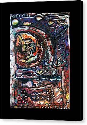 Dreamsequence No. 2 - Monster In A Bubble Canvas Print by Mimulux patricia no No
