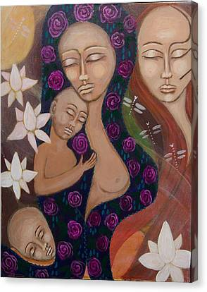 Dreamtime Communion Canvas Print by Havi Mandell