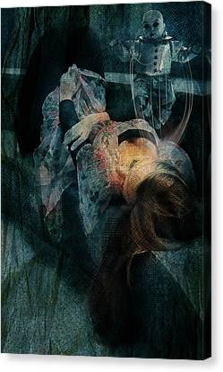 Canvas Print featuring the digital art Dreamweaver Urban Fantasy by Galen Valle