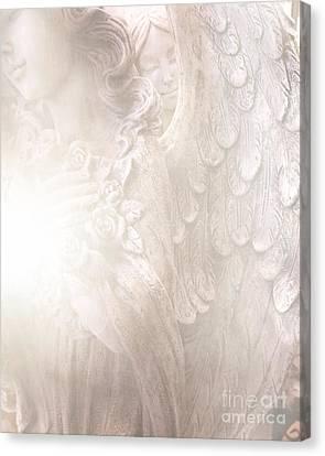 Dreamy Angel Art - Ethereal Spiritual Dream Angel Wings - Heavenly Angel Wings Canvas Print by Kathy Fornal