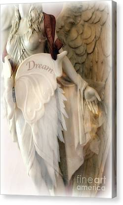 Dreamy Angel Art Photography - Ethereal Spiritual Dream Angel Wings - Inspirational Angel Art Canvas Print by Kathy Fornal