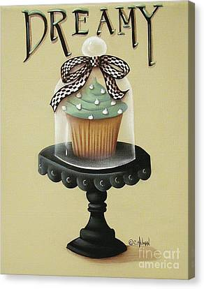 Dreamy Cupcake Canvas Print by Catherine Holman