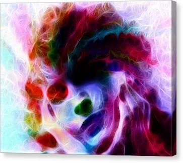 Dreamy Face Canvas Print by Steve K
