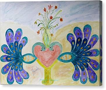 Dreamy Heart Canvas Print by Sonali Gangane