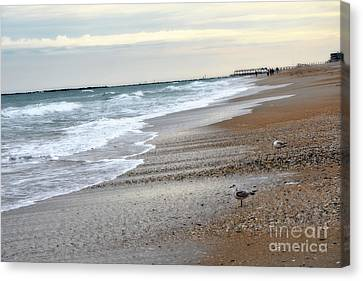 Dreamy Ocean Beach North Carolina Coastal Beach  Canvas Print
