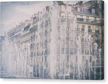 Dreamy Paris Fountains Canvas Print by Georgia Fowler