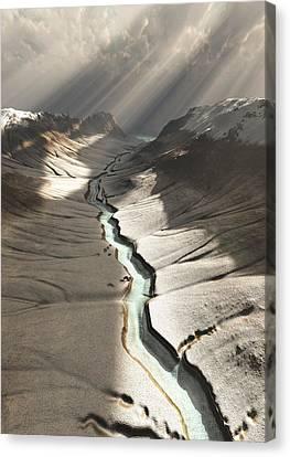 Dreamy River... Carry Me Canvas Print by Bijan Studio