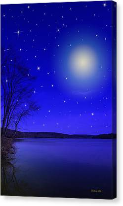 Dreamy Stars At Night Canvas Print by Christina Rollo
