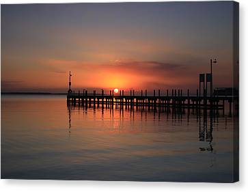 Canvas Print featuring the photograph Dreamy Sunset by Kim Andelkovic