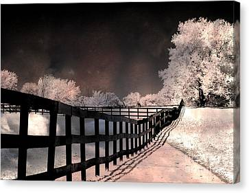 Surreal Infrared Art Canvas Print - Dreamy Surreal Fantasy Infrared Color Landscape by Kathy Fornal