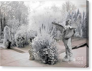 Dreamy White Angel Fantasy Infrared Nature Canvas Print