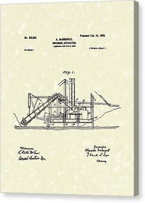 Dredging Apparatus 1899 Patent Art Canvas Print by Prior Art Design