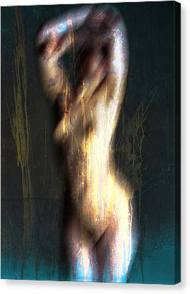 Drenched Flames  Canvas Print by Empty Wall