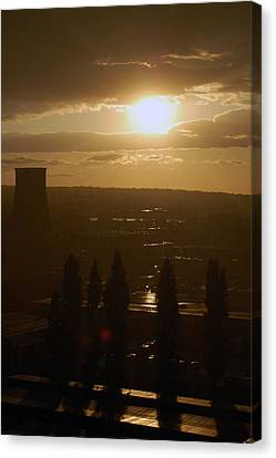 Dresden At Sunset Canvas Print by Peter Cassidy