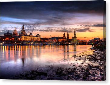 Dresden Sunset Canvas Print by Steffen Gierok