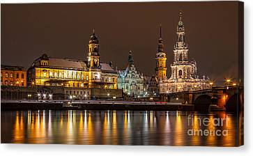 Dresden The Capital Of Saxony I Canvas Print by Bernd Laeschke