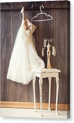 Wood Necklace Canvas Print - Dress by Amanda Elwell