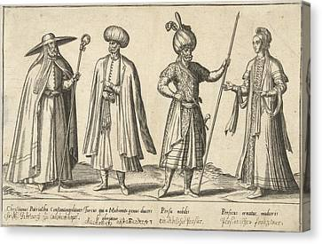 Dress Of Ottomans And Persians Around 1580 Canvas Print