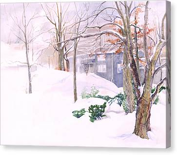 Dressed In Winter White Canvas Print