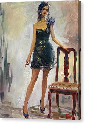 Dressed Up Girl Canvas Print by Ylli Haruni