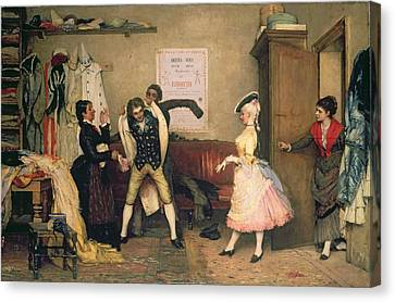 Dressing For The Masquerade Canvas Print by Eugen von Blaas