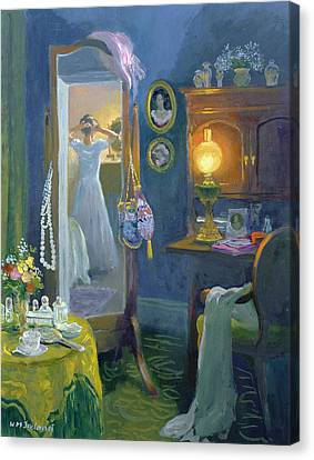 Dressing Room Victorian Style Oil On Board Canvas Print by William Ireland