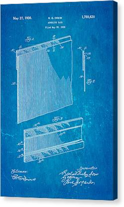 Quilter Canvas Print - Drew Adhesive Tape Patent Art 1930 Blueprint by Ian Monk