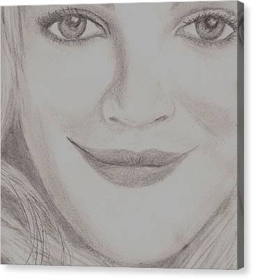 Drew Barrymore Canvas Print by Christy Saunders Church