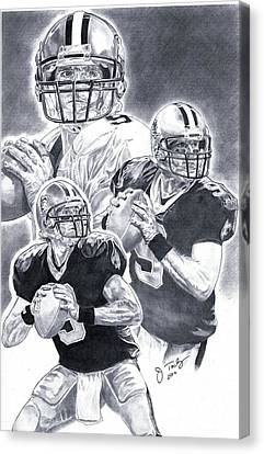 Drew Brees Canvas Print by Jonathan Tooley