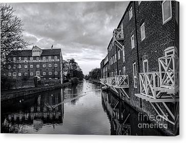Driffield Refurbished Canal Basin Canvas Print by David  Hollingworth