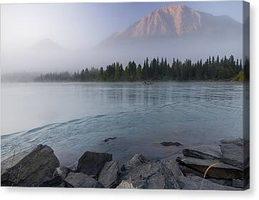 Drift Boat On The Outlet Of Kenai Lake Canvas Print by Kent Fredriksson