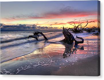Jeckll Island Canvas Print - Drifter's Dreams by Debra and Dave Vanderlaan