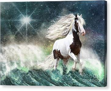 Gypsy Cob Canvas Print - Drifting With The Tides by Trudi Simmonds