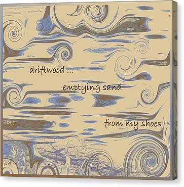 Driftwood Haiga Canvas Print