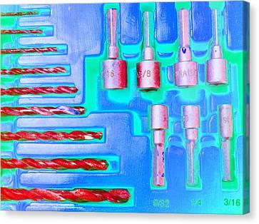 Drill Bits E Canvas Print