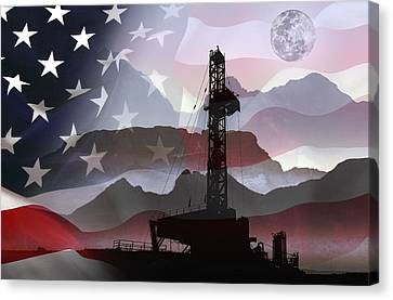 Drilling For America Canvas Print by Daniel Hagerman