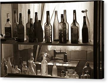 Canvas Print featuring the photograph Drink And Sew by Jim Snyder