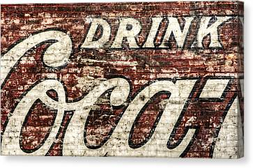 Vintage Sign Canvas Print - Drink Coca-cola 2 by Scott Norris