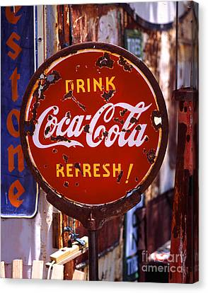 Drink Coca-cola Sign Canvas Print