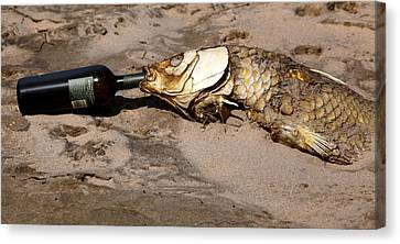 Drink Like A Fish Canvas Print