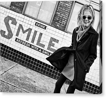 Drink Smile Canvas Print