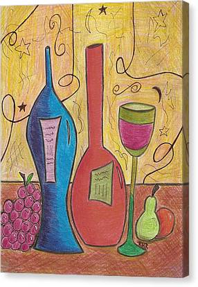 Drinking Alone Canvas Print by Ray Ratzlaff