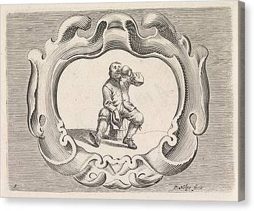 Drinking Peasant, Pieter Nolpe Canvas Print by Pieter Nolpe And Pieter Jansz. Quast
